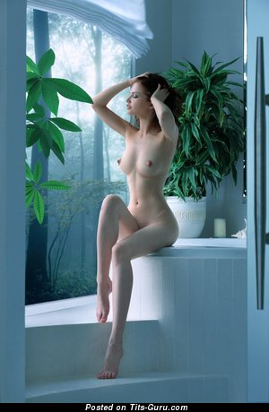 Image. Nude wonderful woman with medium natural boob photo