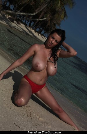 Ewa Sonnet - nude brunette with big natural tittes pic