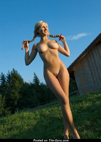 Image. Naked awesome female with natural tits pic