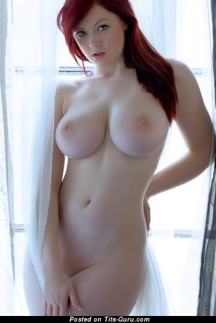 Jaye Rose - sexy naked red hair with medium natural tots image