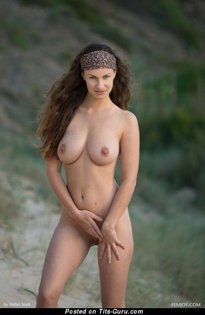 Susann - sexy nude brunette with medium natural breast picture