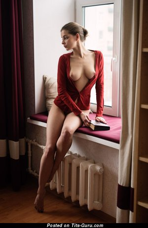 Charming Babe with Charming Bald Natural Tight Boobie (Hd Sexual Pic)