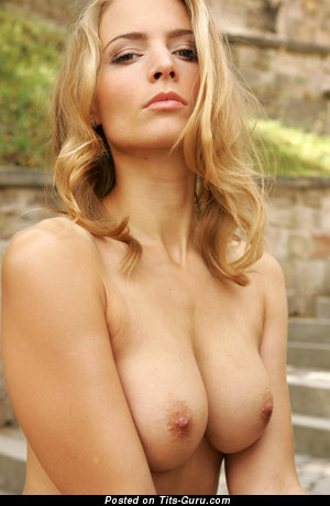 Handsome Blonde with Handsome Bald Natural D Size Tits (Hd 18+ Image)