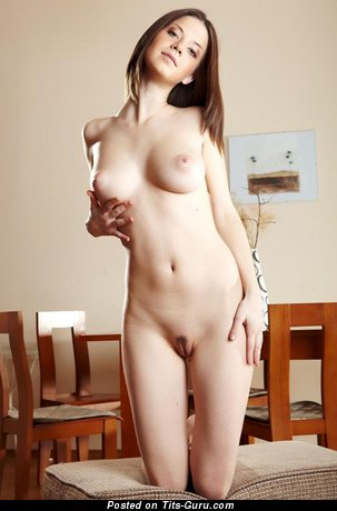 Image. Anita - naked brunette with big tots photo
