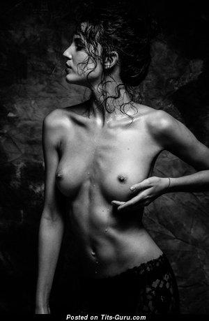 Image. Sexy wet naked brunette photo