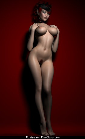 Image. 3d Nude Teen - naked brunette with medium breast image