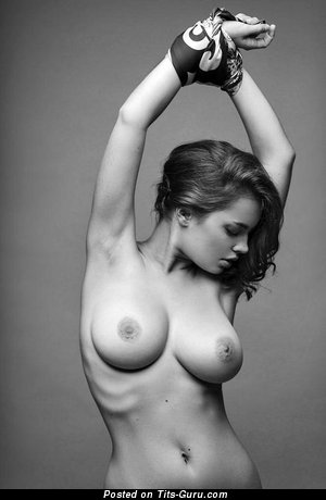Image. Sexy naked nice female with natural breast photo