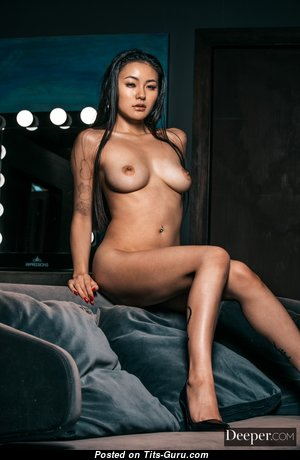 Rae Lil Black - Lovely Topless, Glamour & Painted Asian Playboy & Escort Brunette Actress, Strippers & Pornstar with Lovely Nude Natural Boobs, Large Nipples, Tattoo & Sexy Legs is Undressing & Doing Fitness (Leaked & Voyeur Hd Sex Photoshoot)