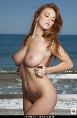 Leanna Decker - Good-Looking American Red Hair with Good-Looking Naked Natural Dd Size Hooters, Piercing & Tattoo (Hd Sexual Image)