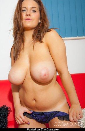 Hannah Sharp - Hot Topless Babe with Hot Naked Natural Average Boobies (Hd Porn Photo)