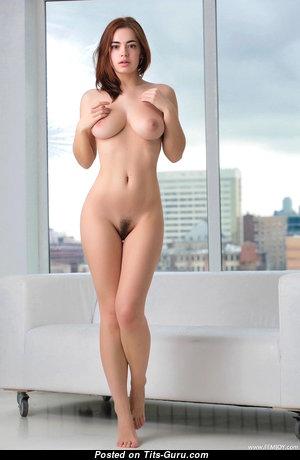 Lidia Sadoverova (aka Kamilla J) - Hot Glamour Brunette with Hot Bald Natural Dd Size Jugs & Big Nipples (Hd Sex Picture)