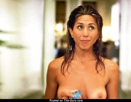 Jennifer Aniston & Graceful Topless & Painted American Blonde & Red Hair Actress with Graceful Defenseless Natural Medium Tittes & Pointy Nipples (Xxx Wallpaper)
