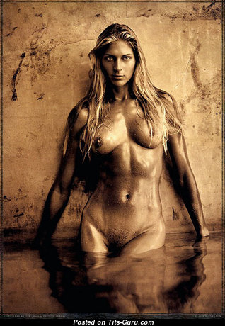 Gabrielle Reece - Magnificent Topless & Wet American Blonde Babe & Actress with Magnificent Open Fake Titty (Porn Pix)