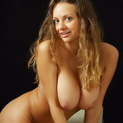 Beautiful female with big natural breast photo