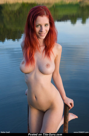 Image. Piper Fawn - sexy nude red hair with medium natural tittys image