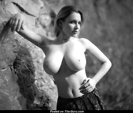Pleasing Babe with Pleasing Defenseless Natural Very Big Busts (Sexual Foto)