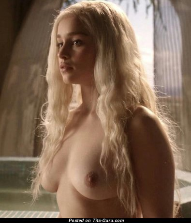 Emilia Clarke - Lovely British Blonde Babe & Actress with Lovely Bald Real D Size Hooters (Hd Xxx Wallpaper)