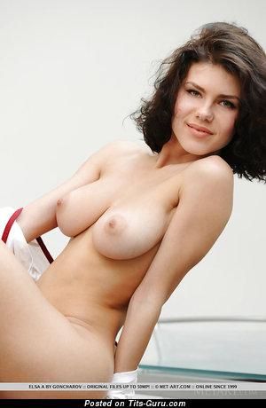 Image. Elsa A - naked beautiful girl with medium natural tits pic