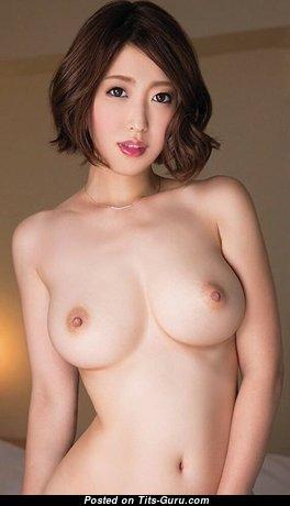 Asahi Mizuno - Handsome Japanese Red Hair Actress & Pornstar with Handsome Defenseless Regular Tittys (18+ Photo)