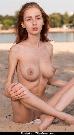 Helga Grey - naked red hair with medium boobs and big nipples pic