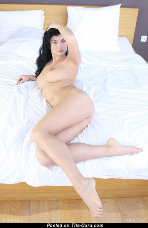 Image. Luci Li - sexy topless brunette with natural breast photo