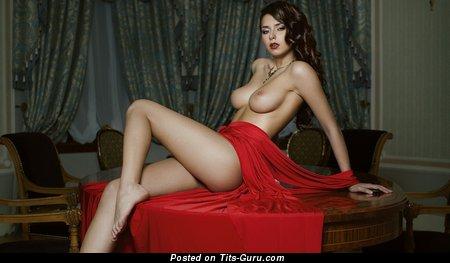 Image. Helga Lovekaty - sexy nude beautiful woman with medium natural boobs pic