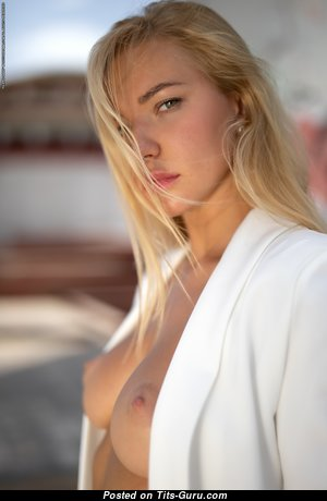 Fabiana (photodromm) - Delightful Non-Nude Blonde Babe with Delightful Real Chest (Hd Xxx Picture)