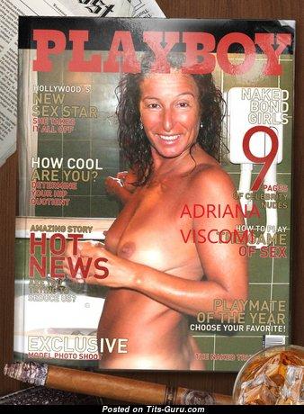 Adriana Viscomi - Dazzling Nude Playboy Pornstar in the Shower (on Public Hd Porn Pic)