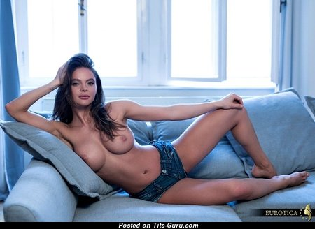 Dana Harem - Marvelous Topless Czech Red Hair with Marvelous Nude Round Fake Boob (Xxx Photo)