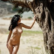 Sexy topless amateur amazing lady with medium natural tittys picture