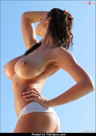 The Best Topless Brunette Babe with The Best Defenseless Tight Tits in Panties (Hd Sexual Photo)