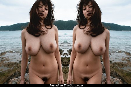 Image. Rara Anzai - sexy naked asian with medium natural breast photo