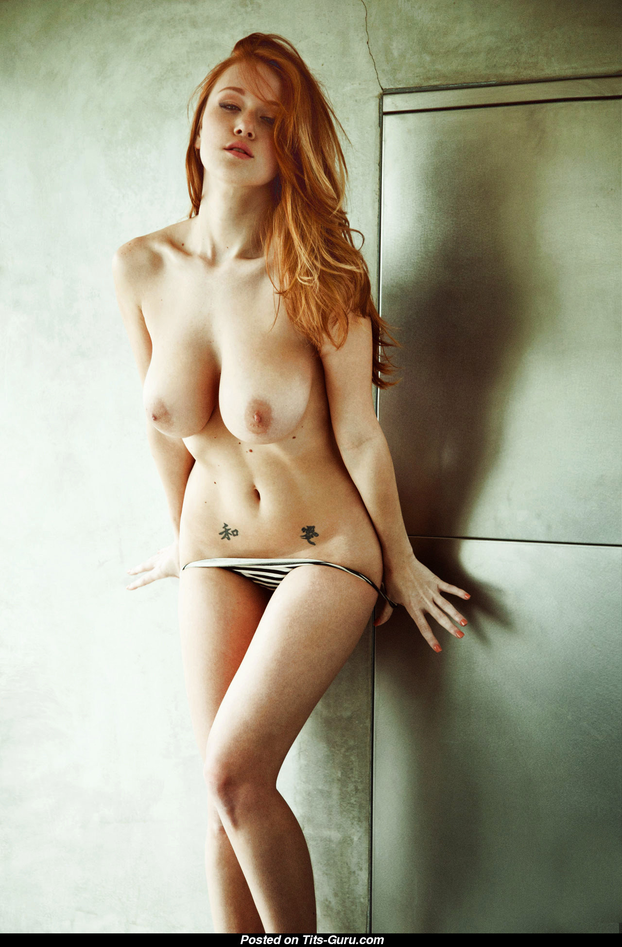 leanna decker - topless red hair with big natural tittes image