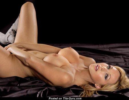 Image. Sexy naked hot female with medium fake tots image