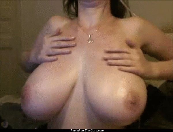 Naked beautiful female with huge natural tittys gif