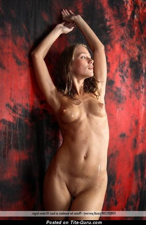Image. Nude awesome girl with medium tots picture
