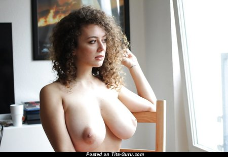 Image. Leila Lowfire - sexy topless wonderful female with medium natural tittes picture