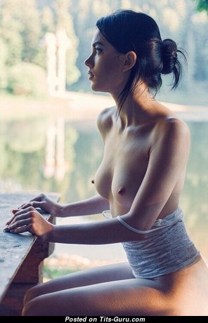 Marvelous Babe with Marvelous Defenseless Real Petite Hooters (Porn Image)