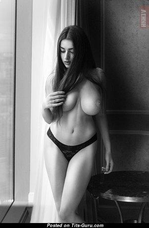 Алиса Котельникова - Sweet Brunette Babe with Sweet Bare Natural Great Boobies & Erect Nipples in Panties (Hd Xxx Photo)