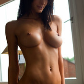 Amazing female with big natural breast pic