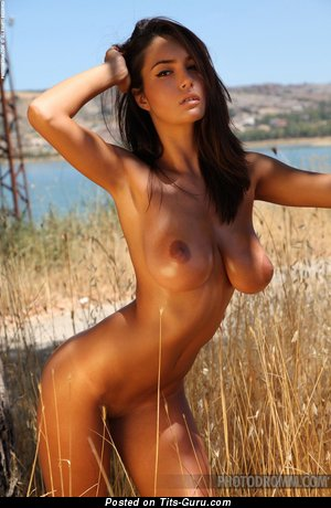 Image. Naked amazing lady with big natural breast photo