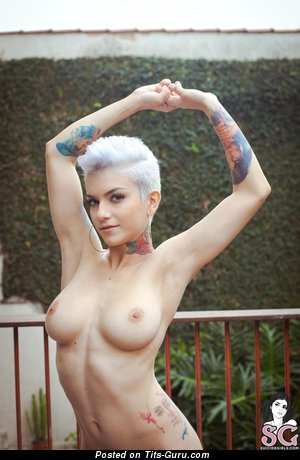 Image. Sab Suicide - awesome female with big natural breast pic