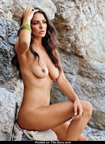 Image. Sexy nude beautiful girl with medium natural boobs image