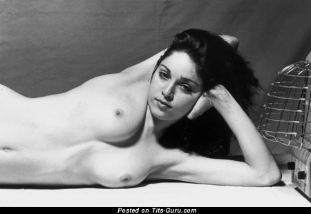 Image. Madonna - nude amazing girl with medium natural breast vintage