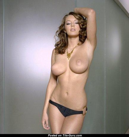Keeley Hazel - Nice Blonde Babe with Nice Bald C Size Tit (Porn Photoshoot)