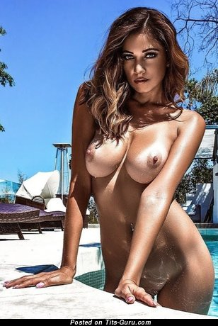 Sexy nude wonderful female with medium natural tots pic