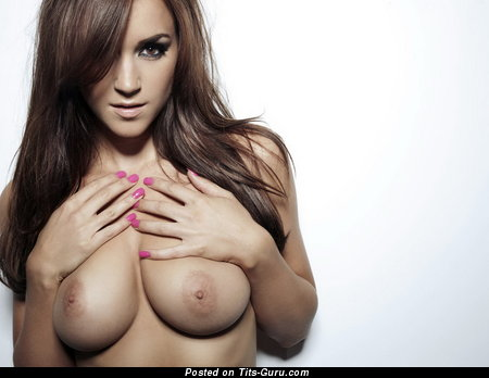 Image. Rosie Jones - topless nice lady with medium natural tittes photo