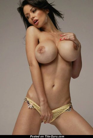 Image. Veronica Zemanova - nude brunette with big fake tits photo