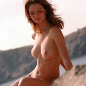 Beautiful female with natural breast picture