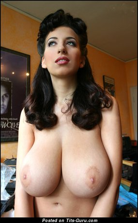 Image. Jana Defi - nude brunette with huge natural tots photo